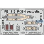 Lockheed P-38H Lightning seatbelts STEEL 1/48