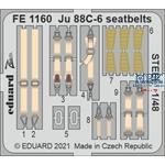 Junkers Ju-88C-6 seatbelts STEEL 1/48