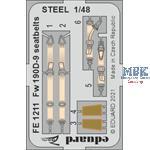 Fw 190D-9 seatbelts STEEL 1/48