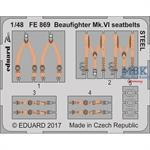 Beaufighter Mk. VI seatbelts STEEL 1/48