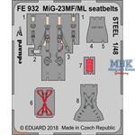 MiG-23MF/ ML seatbelts STEEL 1/48