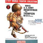 1/12 WWII. U.S. Infantryman w/ Thompson
