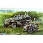 Sd Kfz 250/10 w/ BMW Sidecar +6 Soldier SWA16 1/76