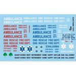 Ambulance / Rettungsdienst Decals