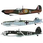 Spitfire Mk.I + Bf109E + He111 P/H  LIMITIERT 1/72