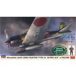 Mitsubishi A6M5 Zero Type 52 super Ace + Figure
