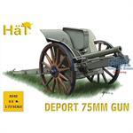 WWI Italian 75mm Deport Gun