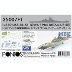 USS BB-61 Iowa 1984 Detail Set