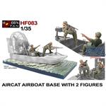 Aircat Airboat Base with 2 Figures
