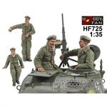 Crew For Chaffee Light Tank M24  Indochina War