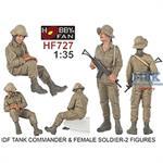 IDF Tank Commander + Female Soldier, 2 Figures
