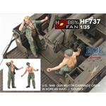 U.S. M40 GUN MOTOR CARRIAGE CREW IN KOREAN WAR