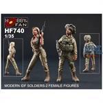 Modern IDF Soldiers - 2 Female Figures