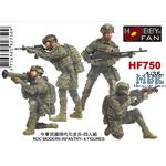 ROC Modern Infantry (4 Figures)