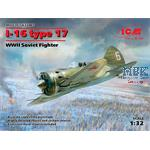I-16 type 17, WWII Soviet Fighter