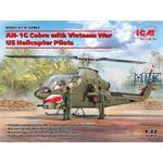 AH-1G Cobra with Vietnam War US Helicopter Pilots