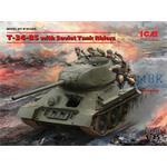 T34/85 with soviet tank riders