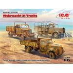 DIORAMA SET - Wehrmacht 3t Trucks