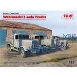 DIORAMA SET - Wehrmacht 3-axle Trucks