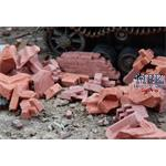 Trümmer ziegelrot/ Rubble brick-red
