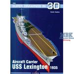 Kagero Super Draw3D Aircraft carrier USS Lexington