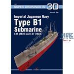 Kagero Super Draw IJN Type B1 Submari. I-15 + I-37