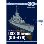 Kagero Super Drawings 3D USS Stevens DD-479