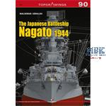 Kagero Top Drawings 90 Jap. Battleship Nagato 1944