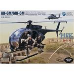 AH-6M, MH-6M Little Bird with 6 resin figures