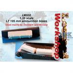 L7 105 mm ammunition boxes