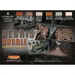 Debris and Rubble European Village Farbset,6x22ml