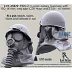 PMG-2 Russian Gasmask OZK Hood and STSh -40 helmet