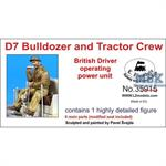 British D7 Bulldozer Driver operating power