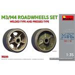 M3/ M4 ROAD WHEELS SET. WELDED AND PRESSED TYPES
