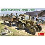 German Tractor D8506 with Trailer & Crew