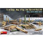 7.5cm Sprgr., Nbgr. & Pzgr. Patr. StuK40 w/AmmoBox