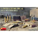 7.5 cm Pzgr.&Gr.Patr. Kw.K.40 Shells w. Ammo Boxes