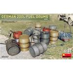 German 200L Fuel Drum Set WW2