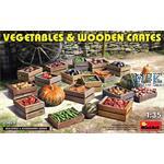 Vegetables & Wooden Crates