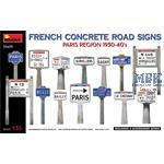 French Concrete Road Signs 1930-40's. Paris Region