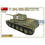 T-34/85 CZECHOSLOVAK PROD. EARLY TYPE w/INTERIOR