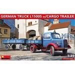GERMAN TRUCK L1500S w/CARGO TRAILER