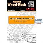 Airbrush Wheel-Mask Soviet Artillery Tractor STZ-5