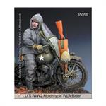 US WW2 Motorcycle WLA Rider