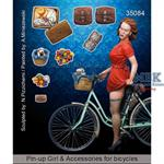 Girl + accessories for bicycles