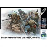 British Infantry before the Attack WW1