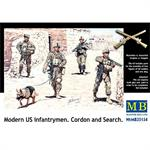 Modern US infantrymen. Cordon and Search
