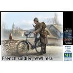 French Soldier w/ Bicycle