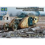 "MK I ""Female"" British Tank, Somme Battle period"