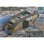 "MK II ""Female"" British Tank,Arras Battle, 1917"